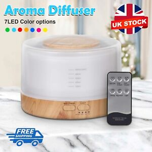 500ml Ultrasonic Air Humidifier Essential Oil Diffuser Aromatherapy Remote UK