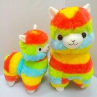 Kawaii Alpacasso Arpakasso Amuse Rainbow Stripe Alpaca Stuffed Plush Doll Toys
