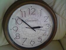 CHARNWOOD QUARTZ WALL CLOCK,USED,LARGE.