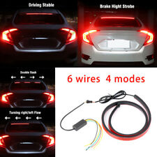 "40"" LED Roofline 3rd High Brake Light Strip Rear Windshield Stop Flow Signal Red"