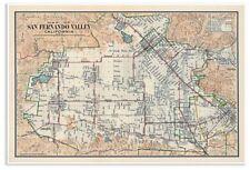 San Fernando Valley California Map circa 1923 - showing Van Nuys, Burbank, etc.
