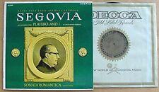 SEGOVIA - PLATERO & I - DECCA - STEREO LP - GOLD LABEL