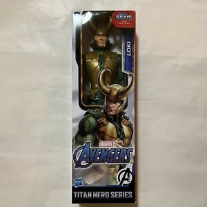 "2019 Avengers Marvel Titan Hero Series Blast Gear Loki Action Figure 12"" NEW"