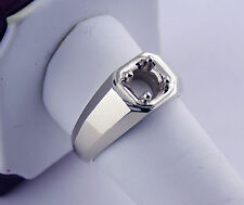 1/2Ct Men's Solitaire Ring Mounting 14K White Gold For 5 mm Round Stone