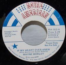 WAYNE WORLEY ROCKABILLY COUNTRY BLUES & HEART EVER KNEW ROYAL AMERICAN PROMO 45