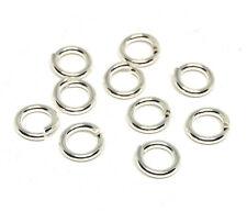 sterling silver 925 open jump rings 6mm 18 gauge