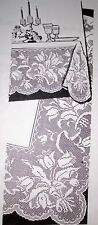 335 Vintage Laura Wheeler Filet WIDE FLOWER BORDER Pattern to Crochet (Reprint)