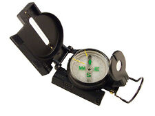 Lensatic Tactical Compass Military Style for Survival Emergency Outdoors - BLACK