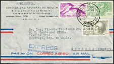 1192 MEXICO TO CHILE ENTREGA INMEDIATA EXPRESS AIR MAIL COVER 1961 DF - SANTIAGO