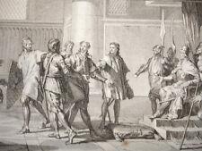 GRAVURE XVIIIe / CHARLES FRÈRE DU ROI REND HOMMAGE A L'EMPEREUR OTHON AN 977