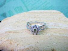 Smaragd solitäre Echtschmuck-Ringe aus Sterlingsilber