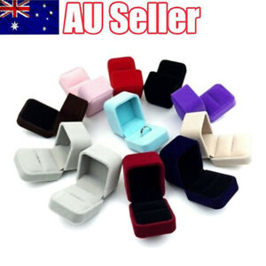 Squre Velvet Earrings Ring Box Wedding Jewelry Displays Storage Case Gifts Boxes