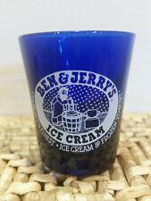 Ben & Jerry's Ice Cream - Rare Vintage Cobalt Blue Shot Glass - New never used