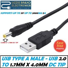 USB to 4.0mm Tip DC5V Power PCMCIA Cable Notebook Laptop Charger Supply Cord 4mm