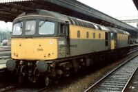 PHOTO  CLASS 33 LOCO NO 33065 33057 AT EXETER 1991