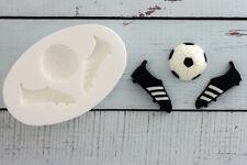 Silicone Mould Football & Football Boots Soccer Food Grade Ellam Sugarcraft M018
