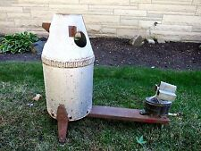 Vintage Space ROCKET Fire Burner Heater RARE Industrial Salvage Metal Art Odd