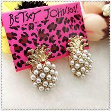 Betsey Johnson Pineapple earrings & free gift