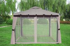 3x3M Aluminium Luxury Gazebo Pavilion Canopy Sun Shade Marquee Garden Party Tent