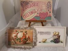 Vtg 1941 Easter Bunny Chicks Eggs Artist Greeting Postcards Paper Advertising