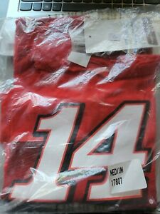 New Old Stock-Tony Stewart Nascar T-shirt Medium Red Rush Truck Centers Racing