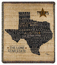 THROWS - DON'T MESS WITH TEXAS TAPESTRY THROW - LONE STAR STATE THROW BLANKET