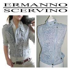 Exceptional ERMANNO SCERVINO Sleeveless Biker Jacket Gilet with zip detail