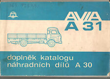 Avia A-31 doplnek katalogu nahradnich Dilu MOTOKOV Tchécoslovaquie Renault Saviem