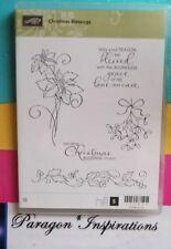 NEW Stampin Up CHRISTMAS BLESSINGS Mistletoe Poinsettia Religious Sentiment
