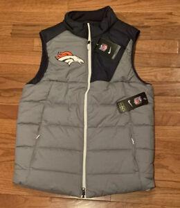 Men's Denver Broncos Nike Champ Drive Vest Jacket Small NWT $125