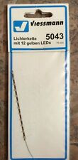 Viessmann 5043 Light Chain Yellow With 12 LEDs - New