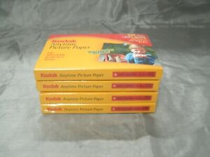 Kodak Anytime Picture Photo Paper 4x6 Soft Gloss 44lb. 4 Packs 400 Sheets Sealed