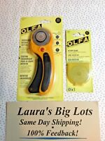 OLFA 45mm Ergonomic ROTARY CUTTER NEW Includes One Extra Blade $17.25 Free Ship