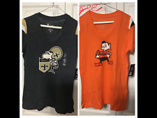 NIKE NFL Vintage Logo Shirt Saints Browns Jersey Tee Womans Tee Size M, L