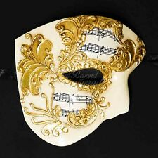 Phantom of the Opera Venetian Masquerade Mask for Men M2601 [Gold]