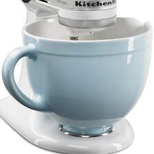 New KitchenAid KSMCB5GB 5-qt Ceramic Mixing Bowl Attachment Glacier Blue