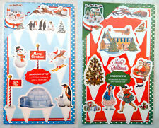 POP TOPS CHRISTMAS CAKE TOPPERS SET Victorian Traditional or NORTH POLE PENGUINS
