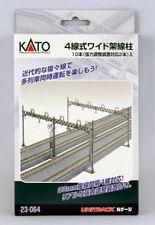 23-064 KATO Unitrack 10 poteaux catenaires doubles voies N 1/160