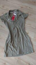 S. OLIVER Kleid 176 XS khaki weiß Print NEU m.Etikett