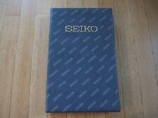 Vintage Seiko Watchstrap book display w/20 NOS Seiko watchstraps