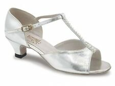 Silver roch valley lara talon salle de bal/danse latine chaussures-taille uk 1