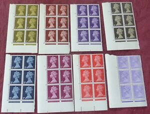 EIGHT (8) BLOCKS OF SIX MACHIN GB STAMPS / 1d,2d,3d,4d,5d,6d,8d and 1/-