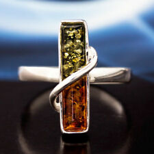 Bernstein Silber 925 Ring Sterlingsilber Damen Schmuck verschiedene Größen R134