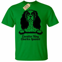 KIDS BOYS GIRLS king charles cavalier spaniel T-Shirt dog lover gift present