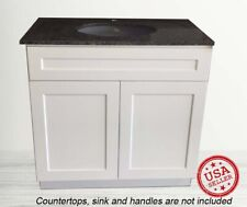 "Bathroom Vanity Cabinet White Shaker Single Sink 24"" W x 21"" D"
