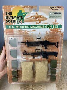 1998 1/6 Scale 21st Century Toys Ultimate Soldier U.S. Modern Machine Gun Set