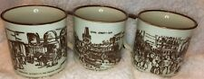 New Orleans Scenes D H Holmes Coffee Cup Mugs Rex Mardi Gras Canal French Market