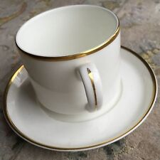 Vintage (1985) Royal Doulton Gold Gilded Fine English Bone China Cup & Saucer
