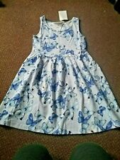 NEW girls h+m blue stripe butterfly  summer dress 4 - 5 - 6 YEARS  - bnwt