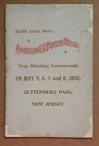 1896 Trapshooting Tournament Program -- New Jersey